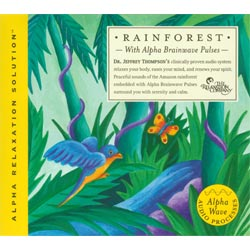 Rainforest with Alpha Brainwave Pulses CD