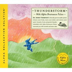 Thunderstorm with Alpha Brainwave Pulses CD