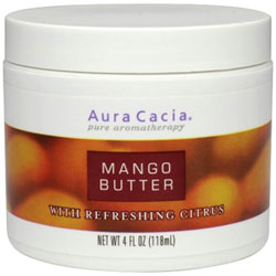 Aura Cacia Mango Butter with Refreshing Citrus, 4 oz