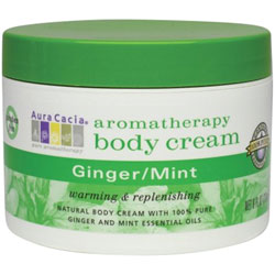 Aura Cacia Ginger & Mint Aromatherapy Body Cream, 8 oz