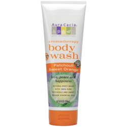 Aura Cacia Patchouli & Sweet Orange Aromatherapy Body Wash, 8 oz