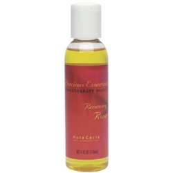 Aura Cacia Precious Essentials Renewing Rose Aromatherapy Massage Oil, 4 oz