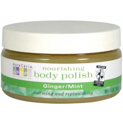 Aura Cacia Ginger & Mint Nourishing Body Polish, 8 oz