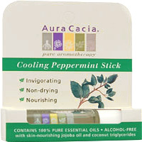 Aura Cacia Cooling Peppermint Aromatherapy Stick, 0.29 oz