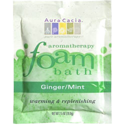 Aura Cacia Ginger & Mint Aromatherapy Foam Bath, 2.5 oz