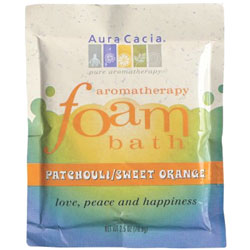 Aura Cacia Patchouli & Sweet Orange Aromatherapy Foam Bath, 2.5 oz