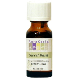 Aura Cacia Sweet Basil Essential Oil, 0.5 oz