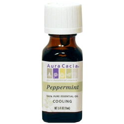 Aura Cacia Peppermint Essential Oil, 0.5 oz