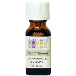 Aura Cacia Sandalwood Essential Oil, 0.5 oz