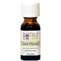 Aura Cacia Red Thyme Essential Oil, 0.5 oz