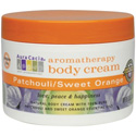Aura Cacia Patchouli & Sweet Orange Aromatherapy Body Cream, 8 oz